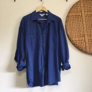 Vintage Striped Button Up Shirt